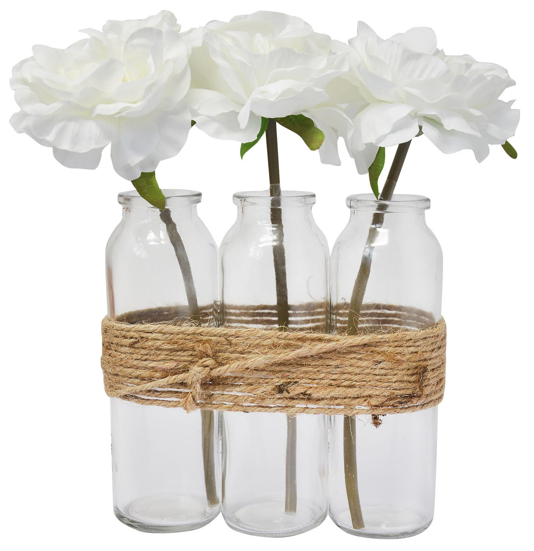 Planters Decorative Indoor High, Artificial Flowers, White Vase, Decoration, Modern/Vintage, 23X16cm