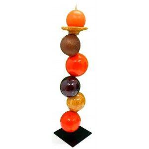 Large artisan balls candle holder