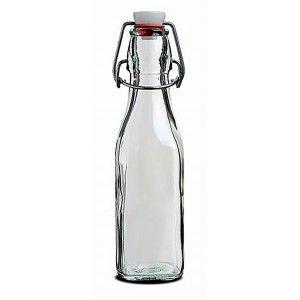 Botella de vidrio con tapón mecanico con diseño Swing 6,5X6,5X27,5  50cl