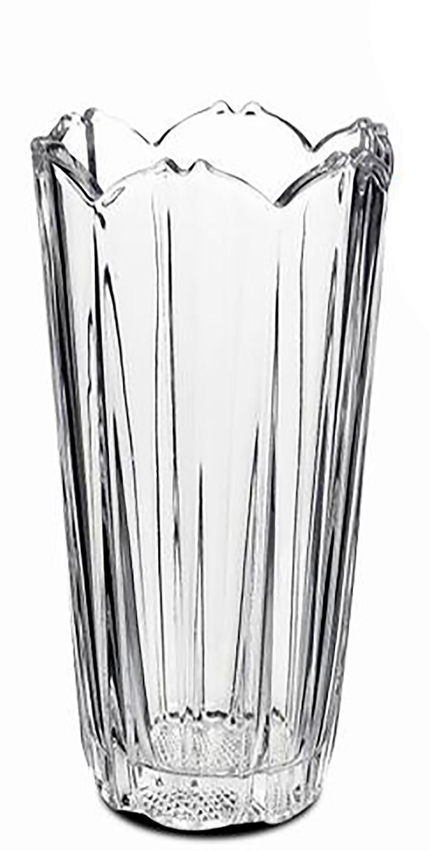 Jarrón decorativo Corolla de Cristal, color Transparente. Diam 12X23cm