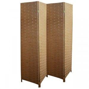 Biombo Bambú Natural, Separador de Ambientes Dormitorio/Salón