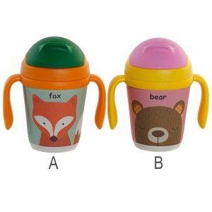 Mug de Bambú reciclado de animales, 2 tipos diferentes 12X8X13cm