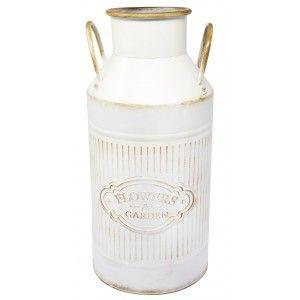 Paraguero Original Vintage Metal with patina White Flowers & Garden 47x14x22 cm