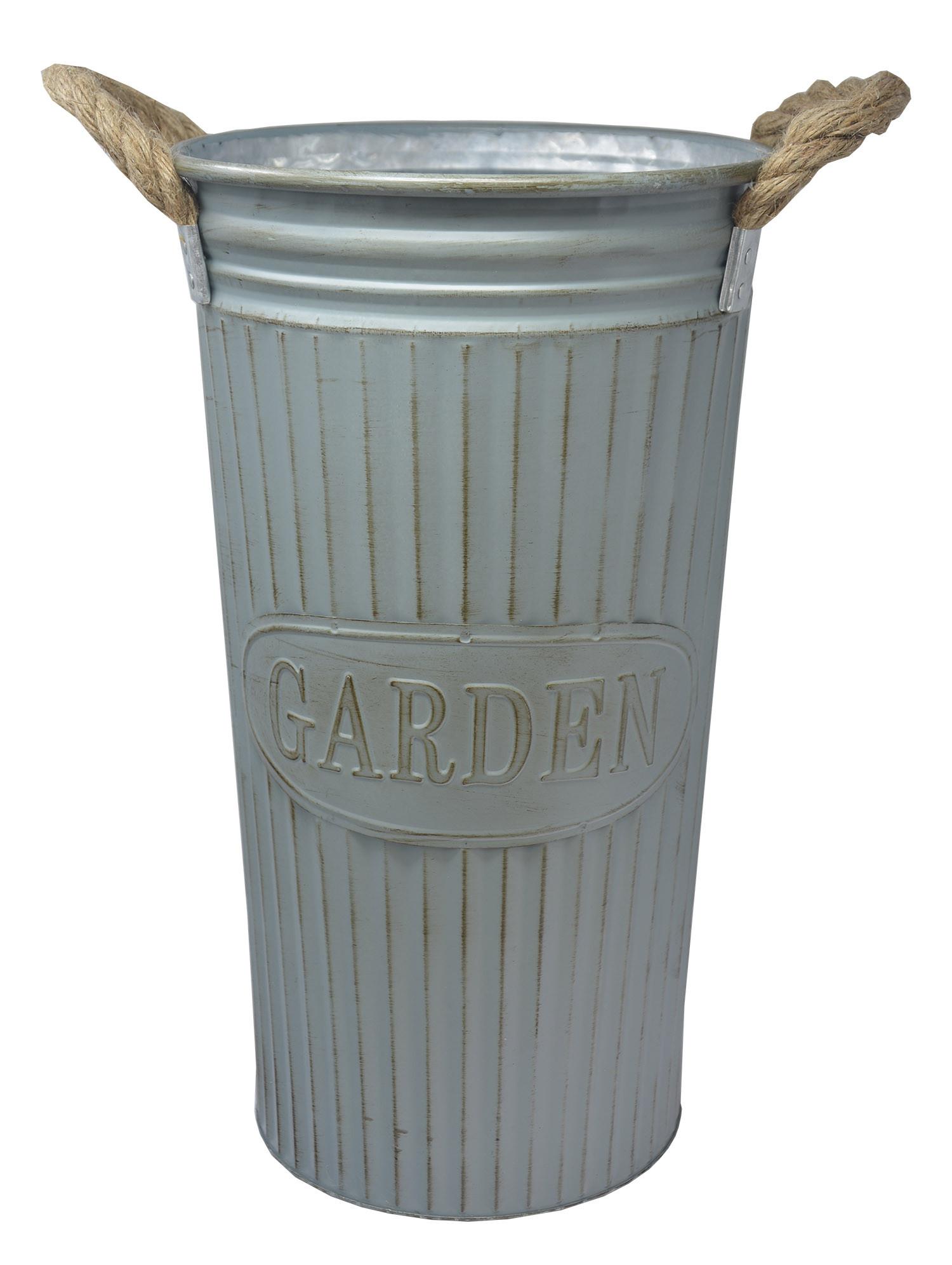 Umbrella holder High Blue Metal Vintage Design with Handles Garden Home and More