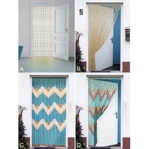 Cortina para Puerta de Bambú Natural, 3 Modelos a Elegir. Sostenible, exenta de plástico.