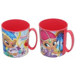 Cup of Hard Plastic, Reusable, for Kids, Pink, 350ML. Model Shimmer & Shine, with style Child - Home and More