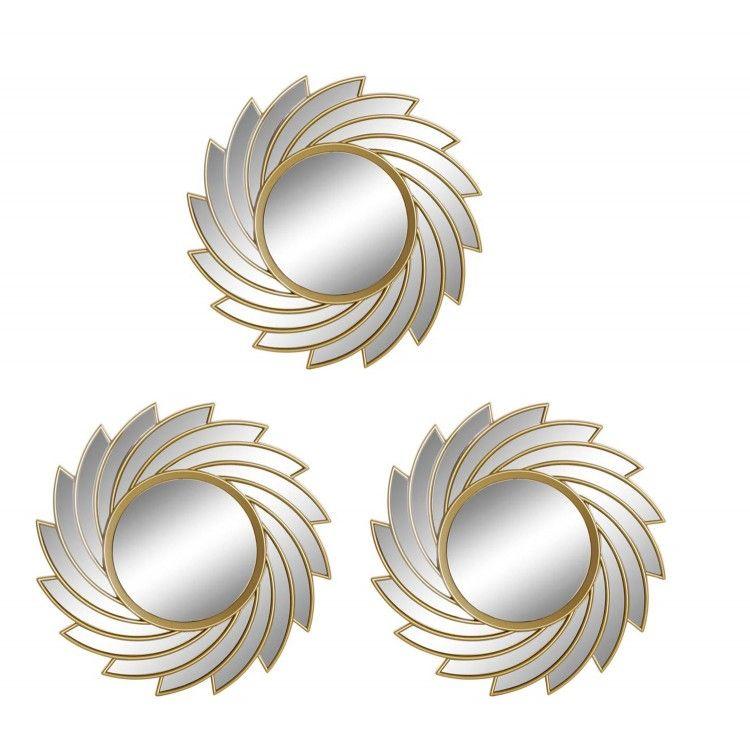 Espejos Pared Decorativos Geométricos, para Dormitorio/Salón. Diseño Moderno y Original. Set de 3 - Hogar y Más