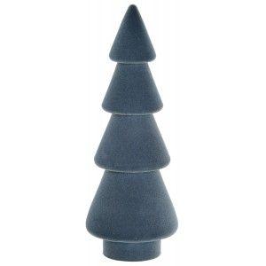 Árbol de Navidad Madera Natural, Azul, Figura Navideña de Paulownia, Decoración Original, Adornos 7X7X19cm