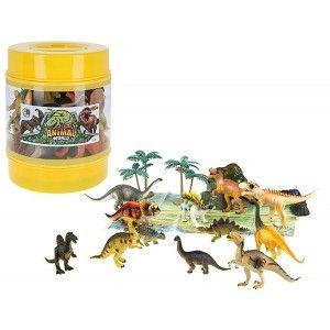 Animales bote con 18 piezas, figuras de Animales infantiles. Juguetes para niños 18X23cm