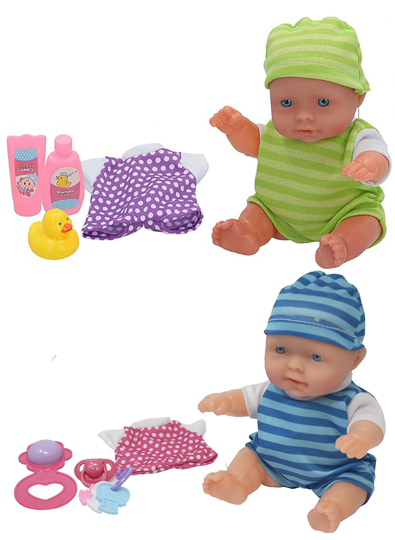 Muñeco Bebé recien Nacido de Juguete para niños, Muñeco Articulado 20cm Bebé con pijama infantil.