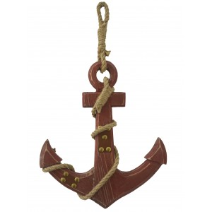Anchor Decor Wooden Wall, Anchor Nautical decorative White. Decor Maritime Wooden 31,5x2x27 cm