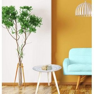 Home and more - circular side Table polychromatic light brown. Style positive.