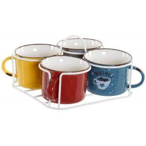 SET DE 4 TAZAS CAFE BISTROT