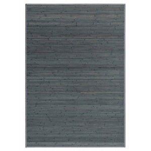 Alfombra Salón/Dormitorio Antideslizante, GRIS OPALINO, Bambú Natural 140 X 180 cm Sostenible, Impermeable, Borde Textil 140x180