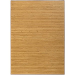 Alfombra Salón/Dormitorio Antideslizante, color Madera, Bambú Natural 140 X 180 cm Sostenible, Impermeable, Borde Textil 140x180