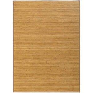Alfombra Antideslizante Natur Marrón De Bambú Natural 60 X 45 cm Sostenible, Impermeable con Borde Textil 60x45