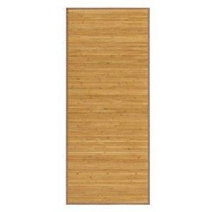 Alfombra Pasillera Antideslizante, de color Madera, de Bambú Natural 125 X 60 cm Sostenible, Impermeable, Borde Textil 125x60