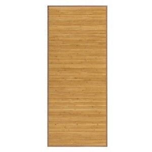 Alfombra Pasillera Antideslizante, de color Madera, de Bambú Natural 150 X 55 cm Sostenible, Impermeable, Borde Textil 150x55
