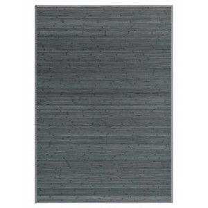 Carpet Pasillera, Bedroom or living Room, Wooden Natural Bamboo, Grey.