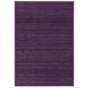 Carpet Pasillera, living Room or Bedroom, Bamboo Wood, Natural, Lilac.