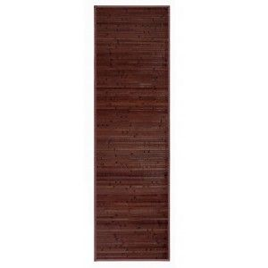 Carpet color chocolate pasillera of natural Bamboo for hallway, 60x200cm - Natural - Home and more