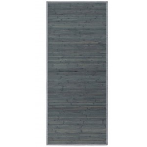 Carpet pasillera of Bamboo-natural, entrance, or hallway of Grey Opaline. Modern Design. 75 x 175 cm - Home and more