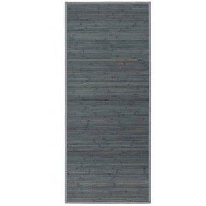 Alfombra Pasillera Antideslizante, color Gris Opalino, de Bambú Natural 65 X 200 cm Sostenible, Impermeable, Borde Textil 65x200
