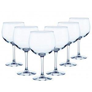 Copa Combinados 70 Cl, Vidrio Gin tonic, 12 Uds. Vajilla/Menaje Elegante, Basicos Set de 12.