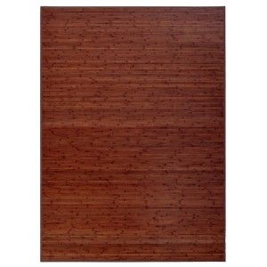 CARPET OF BAMBOO FOR LIVING - DINING-TONE WALNUT VENEER , NON-SLIP, 180 X 250 CM.