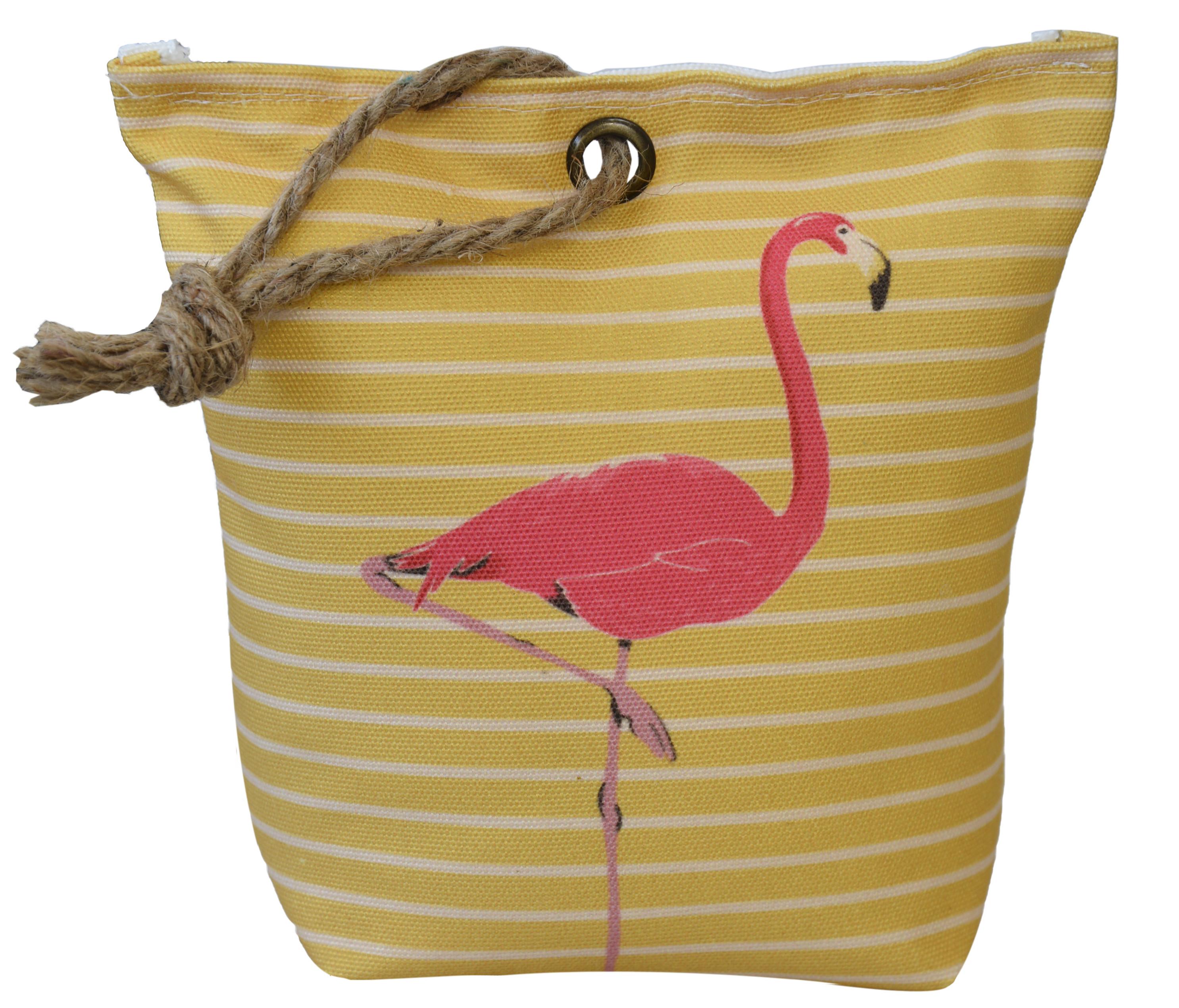 Sujetapuertas Decorative Textile, Flamenco 1,3 kg Sack Yellow with Sisal Natural for Doors 19x19x8 cm