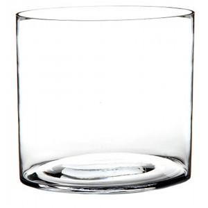 Vase Cylindrical-Glass, Transparent, Modern Style. Perfect for placing Flowers 20X20X20 cm-Hogarymas-