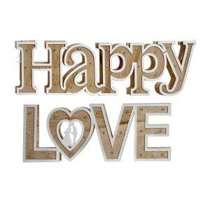 LETRAS HAPPY/LOVE DECO LED
