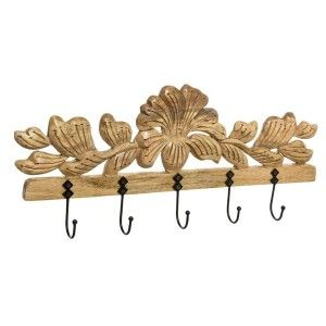 PERCHERO PARED GOLD FLOWER
