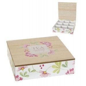 caja almacenaje infusiones flores