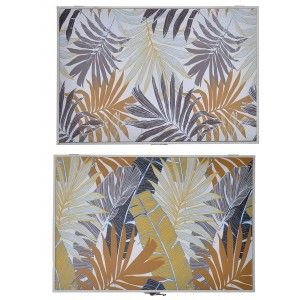 Tapa Contador de Luz Decorativo, Diseño Tropical, Hojas y colores Tropicales 46x32x6 cm - Hogar y Más