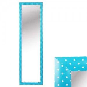 Espejo para puerta azul con lunares - sin agujeros  (126x36 cm)