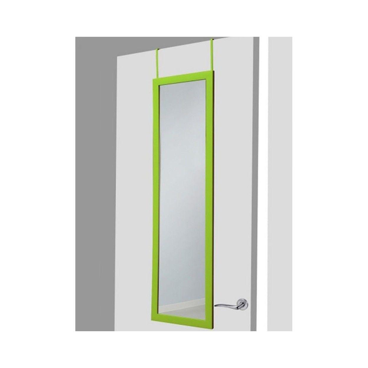 Espejo para puerta verde sin agujeros 37x128 cm hogar y m s for Espejo para puerta