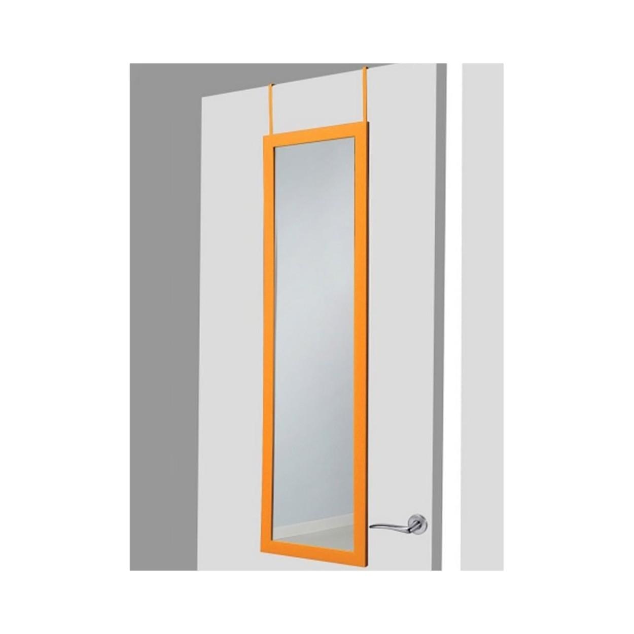 Espejo para puerta naranja sin agujeros hogar y m s for Espejos para colgar