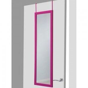 Espejo para puerta fucsia sin agujeros 37x128 cm.