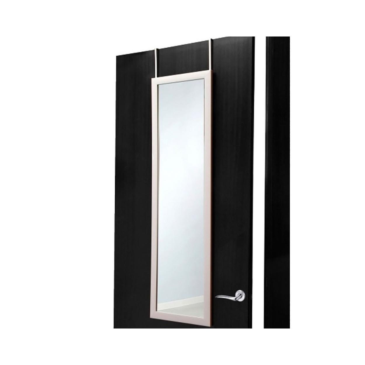 Espejo para puerta blanco sin agujeros hogar y m s for Perchas para puertas sin agujeros