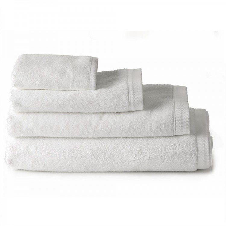 Toalla de baño algodón tocador blanca (30x50)