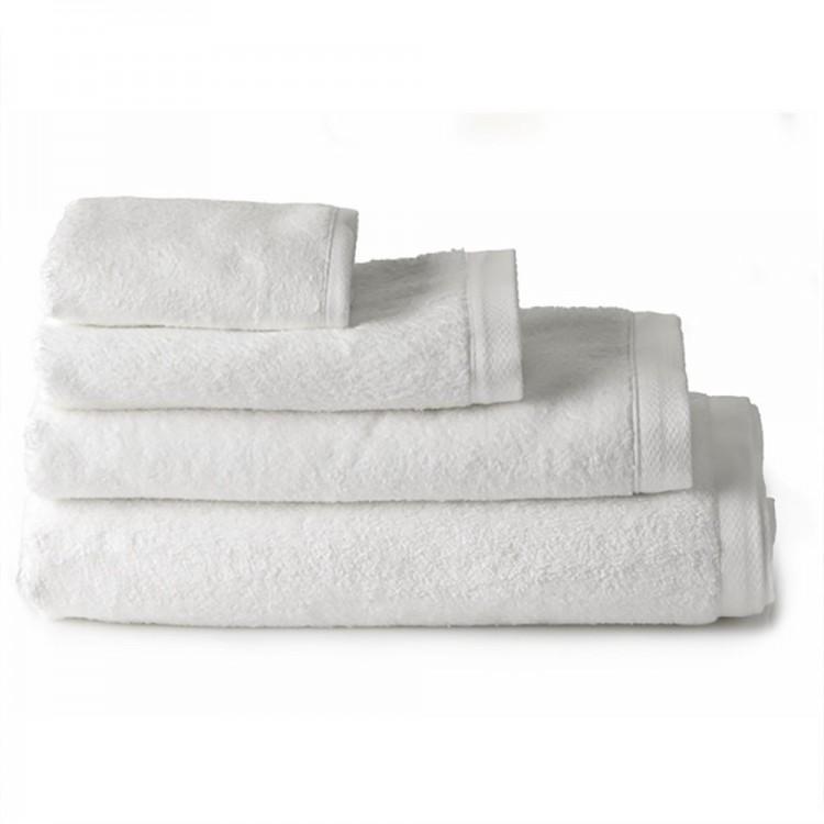 Toalla para ba o lavabo algod n blanca 50x100 hogar y m s - Toallas para bano ...