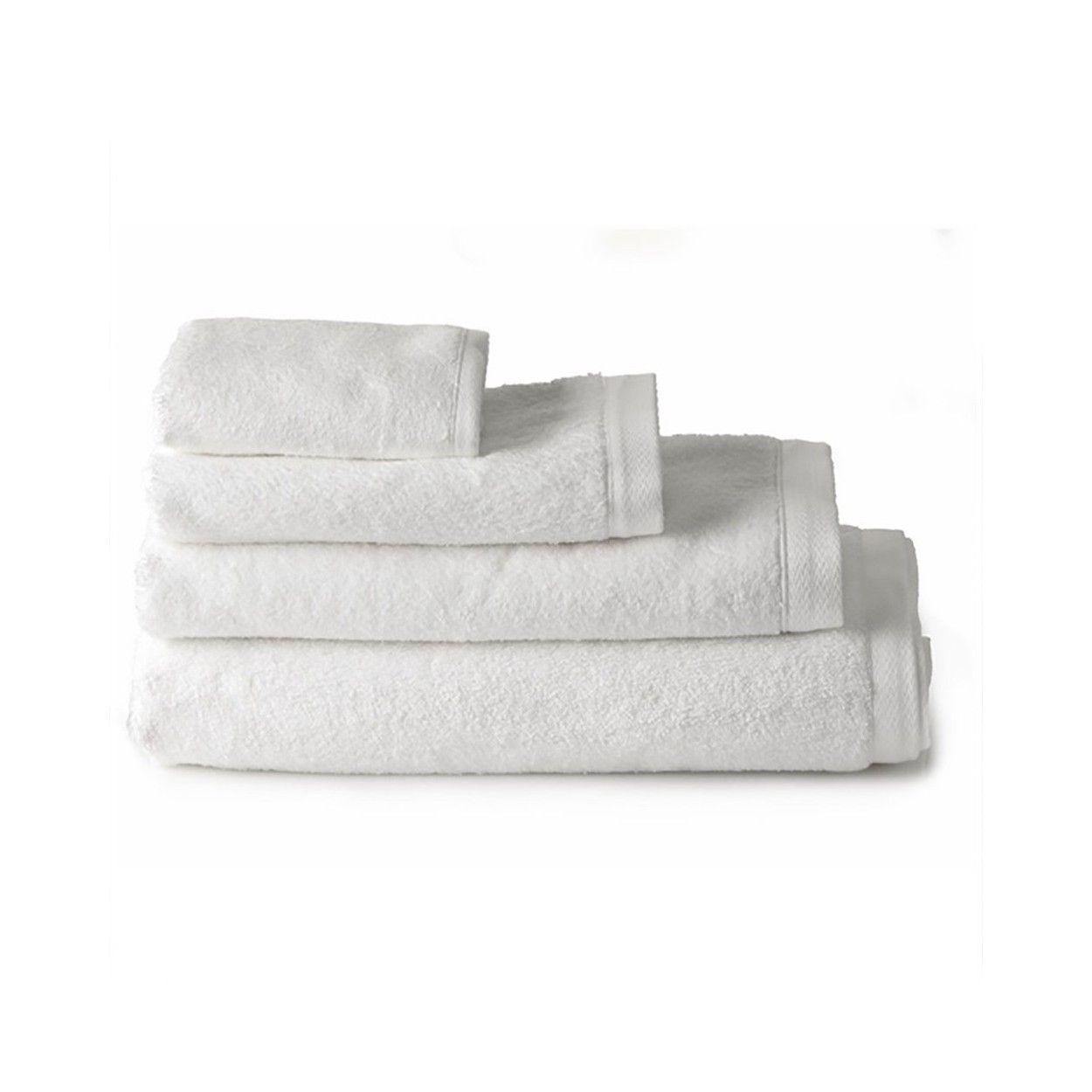 Toalla de ba o s bana algod n blanca 100 x 150 cm hogar y m s - Toallas de algodon ...