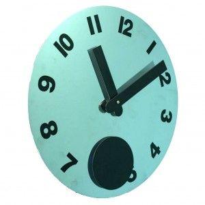 Reloj de pared  plateado pendulo