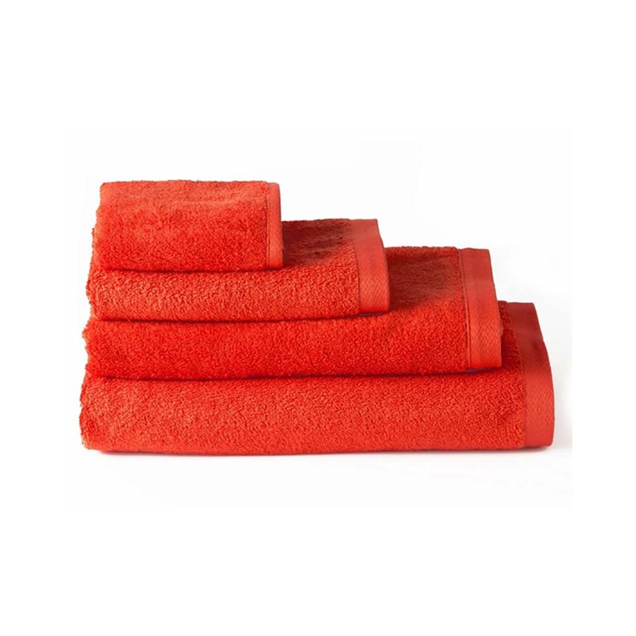 Toalla de ducha algod n roja 70x140 hogar y m s - Toallas de algodon ...