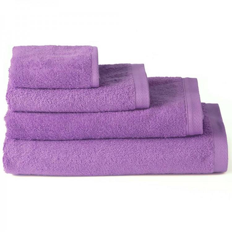 Toalla de baño lavabo algodón lila (50x100)