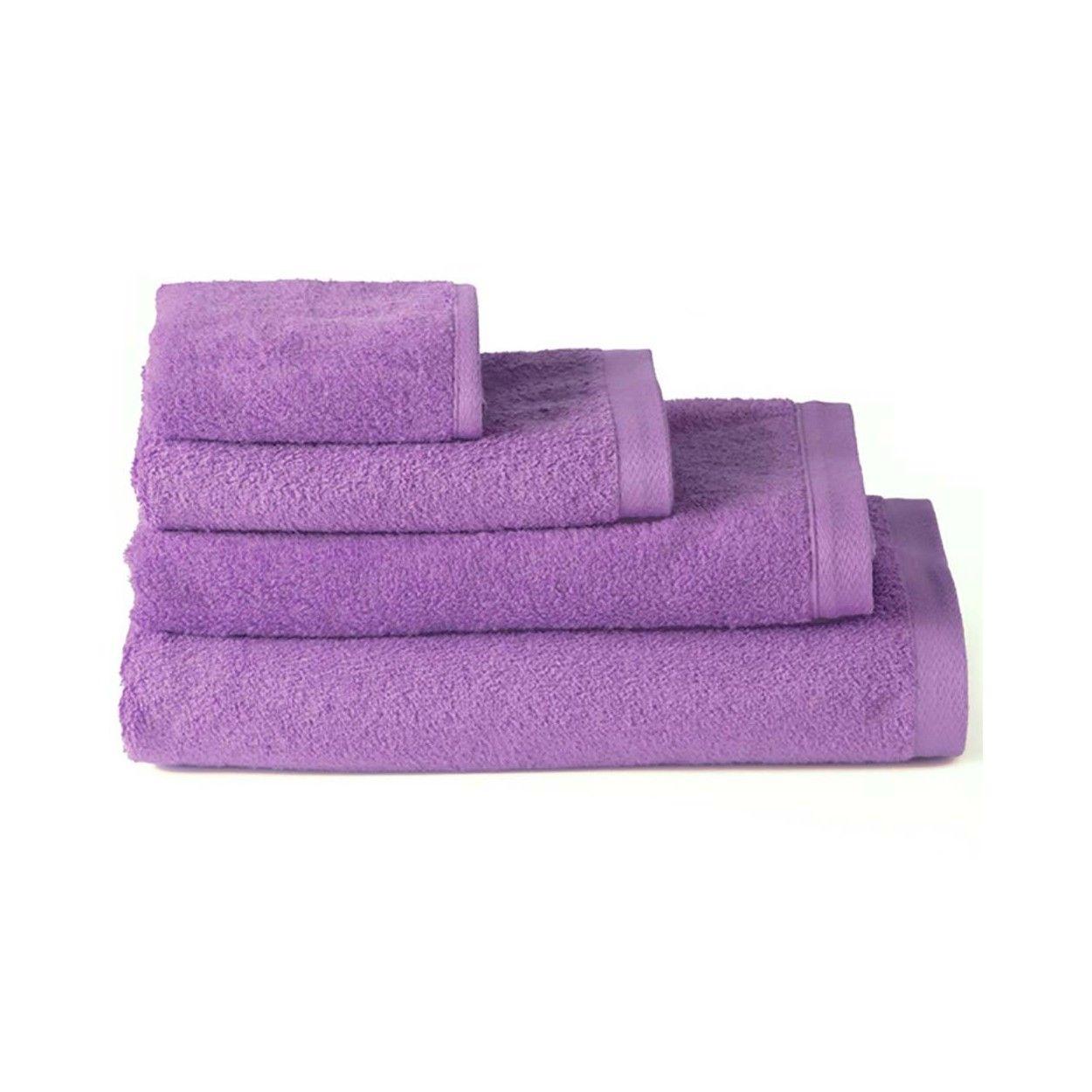 Toalla de ba o lavabo algod n lila 50x100 hogar y m s - Toallas para bano ...