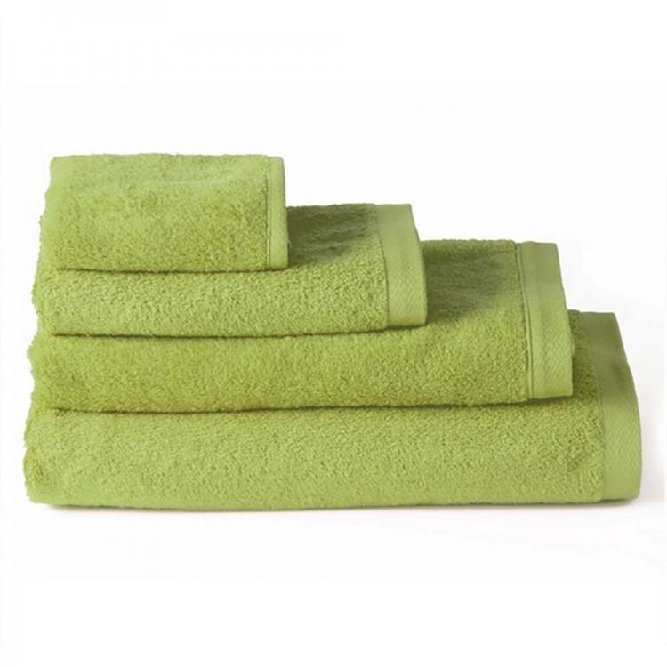Toalla de baño tocador algodón verde (30x50)