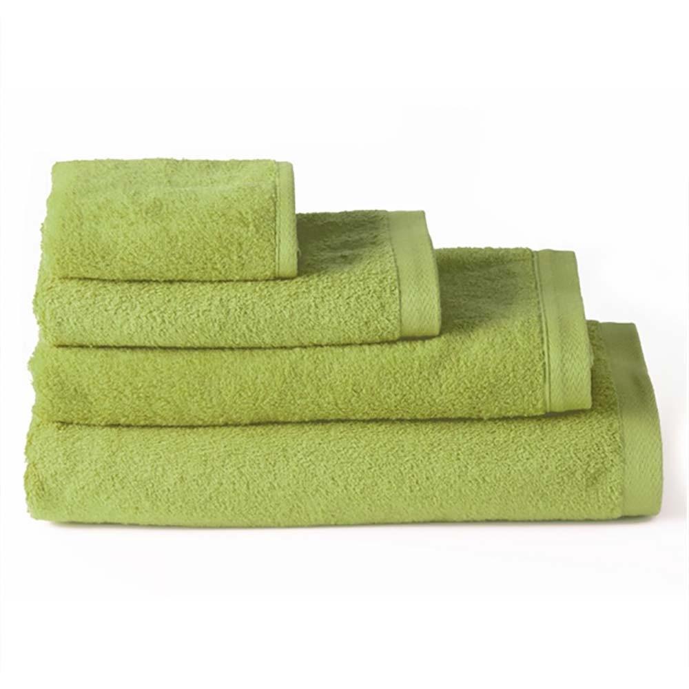 Toalla de baño lavabo algodón verde (50x100)