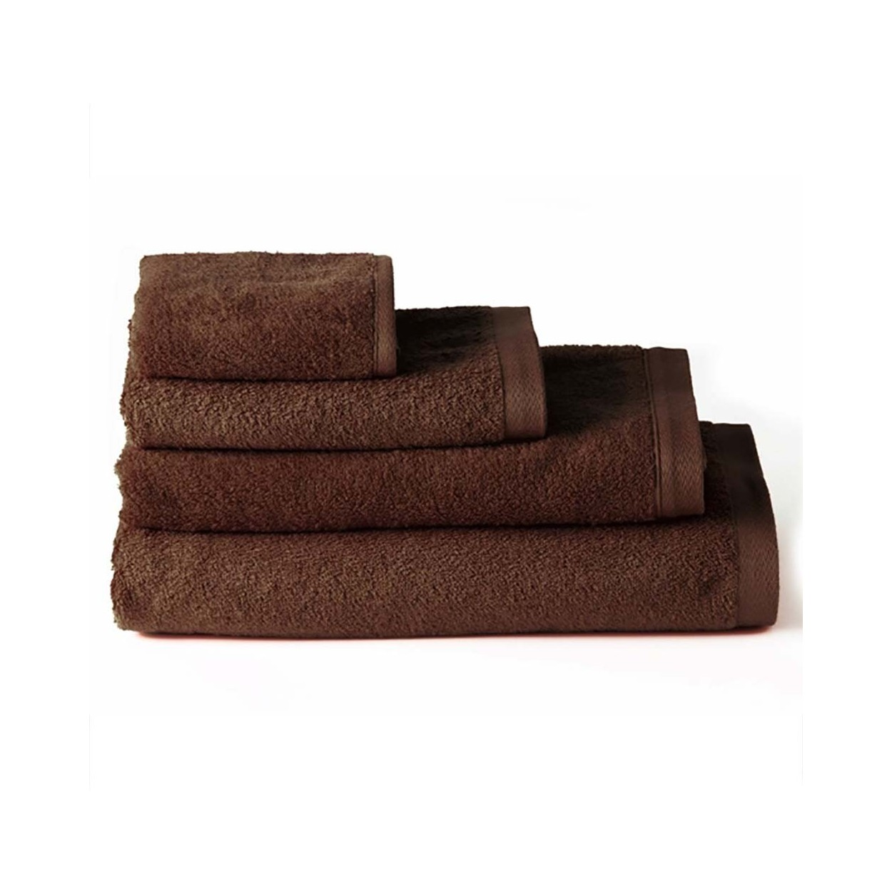 Toalla de ba o tocador algod n marr n chocolate 30x50 hogar y m s - Toallas para bano ...
